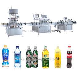 Bouteille de sauce crème liquide coller bourrage Ligne de production de plafonnement de remplissage automatique de type linéaire 4 Machine de remplissage de buse