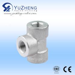 عالية الجودة 304 316 BSP مسننة الفولاذ المقاوم للصدأ الحد من التركيبة على شكل حرف T