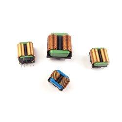 平らな銅線が付いている正方形のフェライト磁心の共通のモードのチョークコイルフィルター誘導器