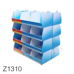 Z1310 écologique PP Conseil creux ondulé Affichage du compteur de bande dessinée Rack, Présentoir de vente au détail