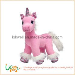 동물성 인형 장난감이 아이들 아기에 의하여 사랑스러운 견면 벨벳 분홍색 망아지 농담을 한다