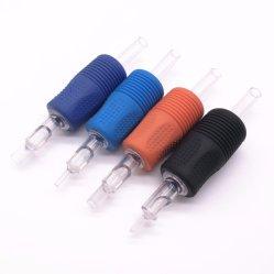 Tatouage jetables de 25mm Tube en plastique avec poignée en silicone ou de caoutchouc