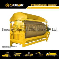 Dry/hierro/tambor separador magnético de mineral/capeado Arena