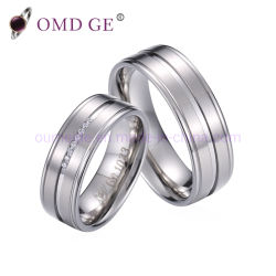 Les anneaux de titane Mens Promesse de bijoux en titane fait sur mesure