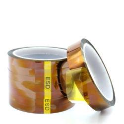 Ruban isolant de polyimide de gros de l'Ambre ESD antistatique PCB Bande de film polyimide