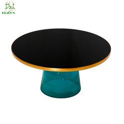 현대 디자인 둥근 스테인리스 Handmade 유리제 벨 커피용 탁자
