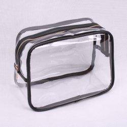 0.5mm 투명 PVC 여성용 화장용 가방/케이스, 메이크업 파우치