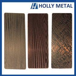 La couleur des feuilles décoratives en acier inoxydable gravé avec une bonne qualité