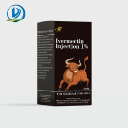 Medicamentos veterinários de polícia de ivermectina 1% Calculador de injecção repelente de insectos para bovinos