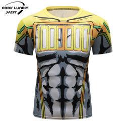 Cody Lundin China Custom hombres Soft Quick Dry Fit Sport Tshirt 100% poliéster normal en blanco T-Shirt desgaste funcional de la ejecución de T