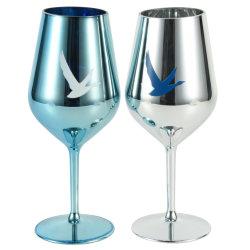 Logo personnalisé en verre de vin en plastique bon marché Golbet Flûtes à Champagne en verre de vin rouge sans BPA PP PS