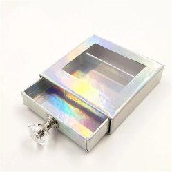 Novas idéias criativas cílios caixas de Embalagem Puxador de Diamante