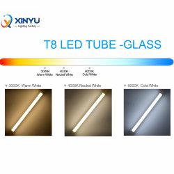 مصباح LED شديد السطوع، زجاج مجسم بقوة 9 واط، 600 مم، 18 واط 4 أقدام 1200 مم أبيض/دافئ/أصفر ضوء SMD LED الأنبوب T8 مع CE RoHS