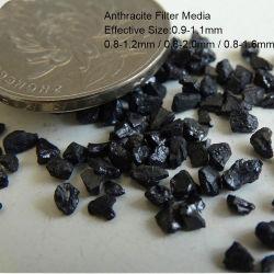 水プラント用浄水用水のための 0.9 ~ 1.2mm のアンスラサイト / ホットセリング アンスラサイトフィルタメディア