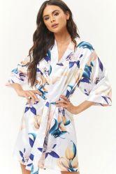 Impression personnalisée fait sur mesure Lady pyjamas Robe de soie