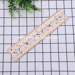 판촉용 나무 더블-스케일 나무 줄자 30cm 나무 일자형 눈금자
