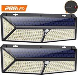 2020 leiden van de Lichten van de Nieuwste Super Heldere 288 LEIDENE IP65 Waterdichte Sensor van de Motie Zonne Openlucht 288 met Lader USB