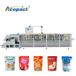La désinfection automatique Gel/ Expurgation de gel de l'écrou de café / Sel Sucre en poudre Snack Doypack pochette Machine d'emballage d'emballage de remplissage