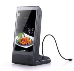 Écran HD LCD Affichage de la publicité de la signalisation numérique Carte de menu du restaurant Café