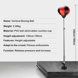 Deportes Outdoor Indoor Golpe vertical de descompresión de bola bola Bola de la velocidad de ventilación de boxeo