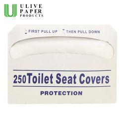 250 compte 1/2 de housse de siège de toilette jetables de repliage