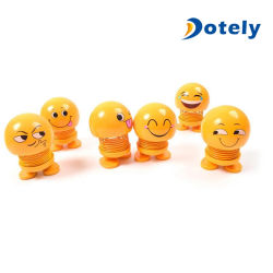 Rütteln der Hauptpuppe für Auto, Emoji Sprung-Puppe-lustige Ausdruck-Schlag-Spielzeug-Puppe