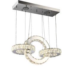 Lampe moderne salle de séjour lustre en cristal Pendentif de lumière pour la maison Décoration d'éclairage