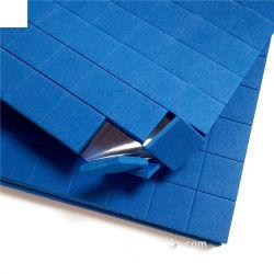 유리 배송을 위한 25 * 25 * 3mm 접착성 블루 EVA 폼 패딩 시트에 플라스틱 엣지 보호장치 패드 부착