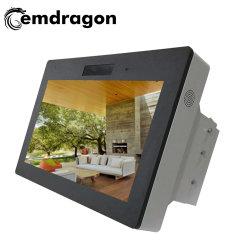 에어컨, 실외 차체 카메라가 있는 수평 스크린 벽면 마운트 광고 기계 43인치 올인원 PC 컴퓨팅 LCD 광고