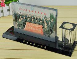 공장 도매 사무실 문구용품 선물 유리제 펜 홀더 결정 기술