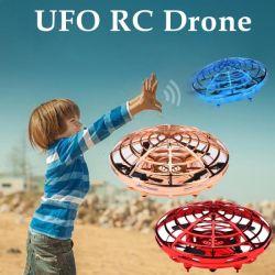 USB Mini RC teledirigido LED UFO volaba balón mano juguetes aviones mando a distancia