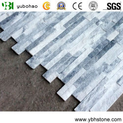 & De quartzite blanc argent blanc/gris/noir/jaune/bois Rusty/cuivre/bleu ardoise/Pierre de la Culture pour revêtement mural/toiture en ardoise forme Z dans le Quartz Stone