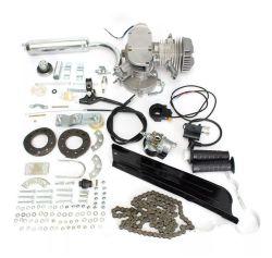 50cc de 2-slag van de Uitrustingen van de motor de Cyclus Gemotoriseerde Uitrustingen van de Motor van de Fiets van het Lichaam van de Fiets Zilveren