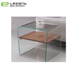 객실을%s 공상 최신 굽은 유리제 테이블