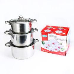 Fabrik Wholesales den besten Preiscruet-Küche-Potenziometer-Edelstahl, der Potenziometer-auf lagerkasserollen kocht