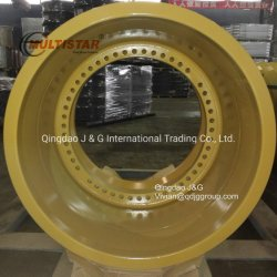 OTR обода колеса OTR колесного погрузчика при добыче Demoutable OTR колеса давление воздуха в шинах 27.00-49/ 27.00R49 установлены OTR обод колеса 49-19.5/4,0