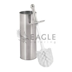 Brosse WC en acier inoxydable avec support