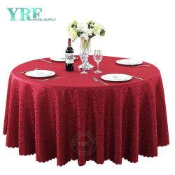 Pure fait main de linge de table rouge rouge nappe de linge de nappes rond rouge