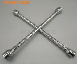 Il bicromato di potassio di riparazione automobile/dell'automobile ha placcato la chiave di chiave trasversale dell'aletta di modo della chiave 4 dell'orlo