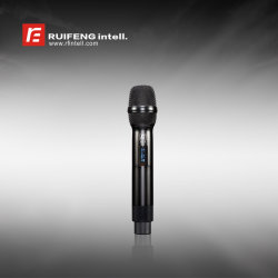 Profesional de mano de banda ancha micrófono inalámbrico UHF PLL