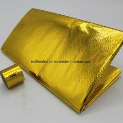 ورقة عزل عاكسة ذهبية حاجز الحرارة المضيء