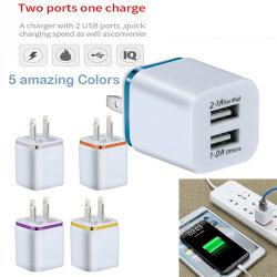 Универсальный 2 настенное зарядное устройство USB поездки разъем 5V 3.1A для iPhone Samsung Apple iPad нас разъем