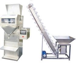 Pesar Granular Semi-automático da máquina de embalagem de enchimento de grãos de arroz de Trigo Grãos das porcas de enchimento de peso das especiarias