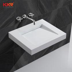 La parete di superficie solida di Kingkonree ha appeso il lavandino della stanza da bagno dei bacini del Governo del dispersore