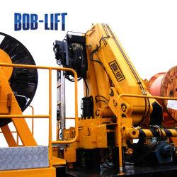 Repliage hydraulique du bras de trou de vis de vidange de la Terre Post Digger Crane