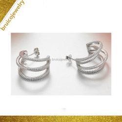 도매 형식 여자 은 또는 금 장식 못 귀걸이 보석 지르코니아 다이아몬드 귀걸이