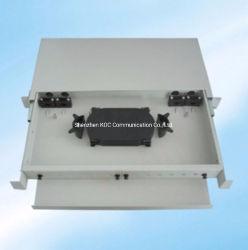 Blocco per grafici di distribuzione ottico montato cremagliera del quadro d'interconnessione della fibra della trasparenza