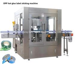 Automatique de la colle hot melt OPP BOPP étiquette de bouteille Pet de verre rondes Grippage de l'étiquetage de l'Étiqueteur Labeler autocollant de la machine de conditionnement d'emballage