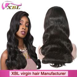 100% natürliches Menschenhaar-Jungfrau-peruanisches Haar-volle Spitze-Perücke