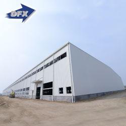 هيكل تصميم السقف المنحني الفولاذي المخزن المعدني